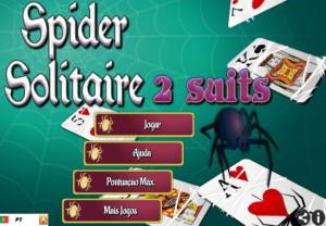 paciencia spider com 2 naipes desfazer dicas